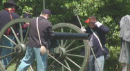 Civil War Cannon Firing Stock Footage