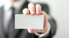 Blank Business card Stock Footage
