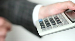 Business calculator Stock Footage