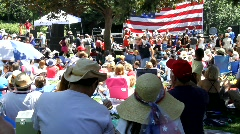 Public Patriotic Event Stock Footage