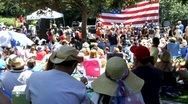 Stock Video Footage of Public Patriotic Event