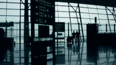 Stock video footage modern airport,  crowd Stock Footage