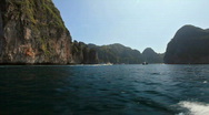 Stock Video Footage of Rocky Islands on the way to the Maya bay