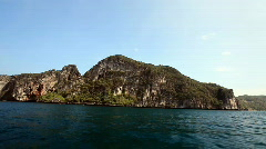 Rocky Islands on the way to the Maya bay Stock Footage