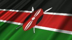 Stock Video Footage of Kenya Flag Loop 02