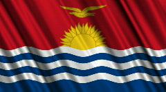 Kiribati Flag Loop 01 Stock Footage