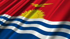 Kiribati Flag Loop 02 Stock Footage