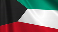 Stock Video Footage of Kuwait Flag Loop 03