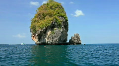 Small rock on the way to the Maya bay Stock Footage