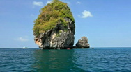 Stock Video Footage of Small rock on the way to the Maya bay