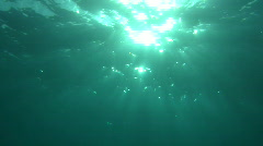 Sun through water Stock Footage