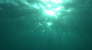 Stock Video Footage of sun through water