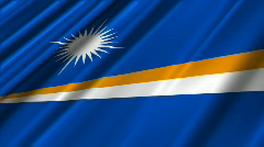 Marshall Islands Flag Loop 02 Stock Footage