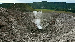 Panoramic view from the Bromo crater. Stock Footage
