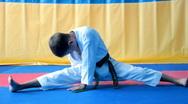 Karate Boy Stock Footage