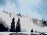 Stock Video Footage of Snow Sunburst NTSC