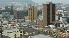 View over the city of Quito, Ecuador Stock Footage