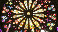 Stained glass window Stock Footage