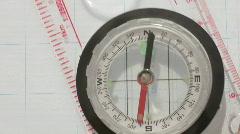 Stock Video Footage of Map and magnetic directional compass