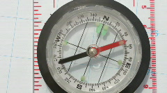 Stock Video Footage of Magnetic directional compass needle spin in all directions.