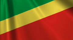 Republic Of The Congo Flag Loop 03 Stock Footage