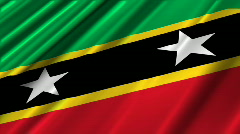 St Kitts and Nevis Flag Loop 02 Stock Footage