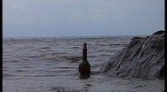 Bottle and sea Stock Footage