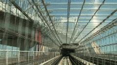 POV  trainride 1 - Tokyo Citytram Stock Footage