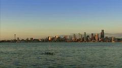 Seattle Alki beach timelapse Stock Footage