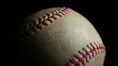 Crisp macro baseball Stock Footage