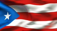 Stock Video Footage of Textured PUERTO RICO cotton flag with wrinkles and seams