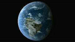 Earth Rotation 1080p HD Stock Footage