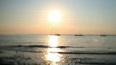 sea sunlight summer water ocean boats ship - stock footage