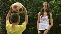 Playing catch Stock Footage