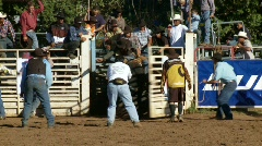 Rodeo Cowboys - Bull Riding in Slow Motion - Clip 11 12 Arkistovideo