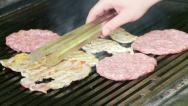 Stock Video Footage of Meat on the grill
