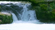 Small waterfall in the nature Stock Footage