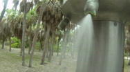 Outdoor Shower 02 Stock Footage