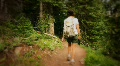 (1220) Colorado Mountains Forest Trail Woman Hiker Stream Summer Destinations Footage