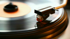 Retro vinyl turntable Stock Footage