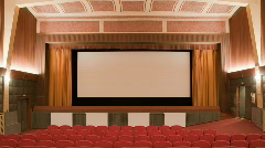 Crowding cinema auditorium 30p - stock footage
