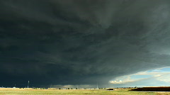 Massive Storm Cell Time Lapse Stock Footage