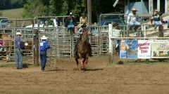 Rodeo Cowboys - Cowgirls Barrel Racing  in Slow Motion - Clip 4 of 5 - stock footage