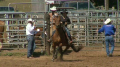 Rodeo Cowboys -  Galloping Horse Slow Motion Stock Footage