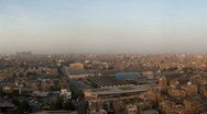 Cairo Skyline sideways movement Stock Footage