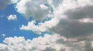 Heaven - Clouds and blue sky. Time lapse Stock Footage