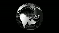 Spinning earth globe with grid Stock Footage