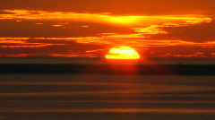 Gold Sunset Timelapse Water Reflection Ocean HD Stock Footage