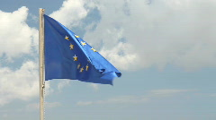European Union (EU) Flag - stock footage