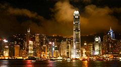 Hong Kong Light Show Stock Footage